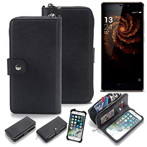 K-S-Trade 2in1 Handyhülle für Allview X3 Soul Pro Schutzhülle & Portemonnee Schutzhülle Tasche Handytasche Case Etui Geldbörse Wallet Bookstyle Hülle schwarz (1x)