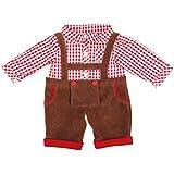 Bayer Design - Conjunto con camisa y pantalón, color moreno, rojo y blanco a cuadros (84624)