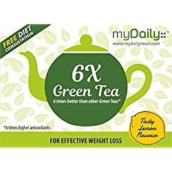 6 times Better Green Tea with 6 times Higher Antioxidants for Effective Weight Loss. myDaily 6X Green Tea (25 sachets)