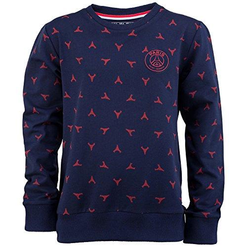 Felpa Shirt PSG-Collezione ufficiale Paris Saint Germain-Dimensione Bambino Ragazzo, Ragazzo, blu, 8 anni