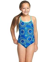 Zoggs Bañador para niñas Cool Geo Multi-Back, niña, Cool Geo, Blue/Multi-Colour, 12-13 años