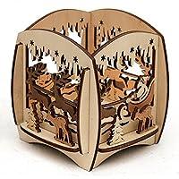 Bellissimo porta tealight in legno dadi, circa