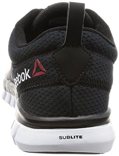 Reebok Sublite Authentic 4, Scarpe da Corsa Uomo Multicolore (Black/White)