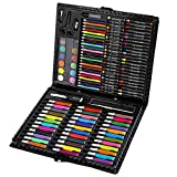 BJ-SHOP Sets de Dessin,Malette de Coloriage Enfants Aquarelle Crayon Enfants Dessin Artiste Kit Crayons de Couleur Ensemble Crayon Peinture À l'huile Pinceau Outil De Dessin Cadeau avec Boîte 150 pcs