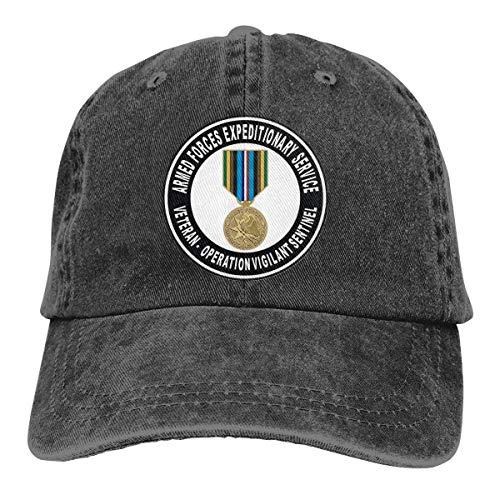 Armed Forces Expeditionary Medal Vigilant Sentinel Adjustable Sport Jeans Baseball Golf Cap Hat Unisex Style