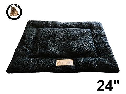 Ellie-Bo Sherpa Fleece Mat Bed in Black - Fits Ellie-Bo