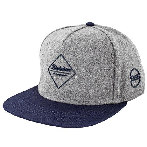 Blackskies Snapback Cap Schwarz Braun Grau Wolle Schirm Unisex Premium Baseball Mütze Kappe, Horus, Einheitsgröße