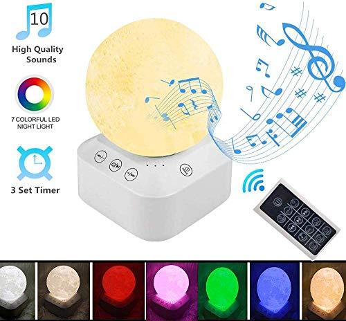 White Noise Machine, leegoal Einschlafhilfe Weißes Rausche Maschine mit 10 entspannenden Naturgeräuschen & Nachtlicht mit 7 Farben für Baby/Kinder/Erwachsene/Insomniac/Reisen/Zuhause/Büro