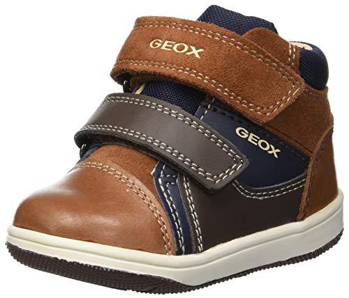 Geox Baby Jungen B New Flick Boy B Sneaker, Braun (Brandy/Navy C6af4), 26 EU