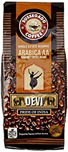 DEVI Pride of India Single Estate Arabica AA Coffee Beans, 250g