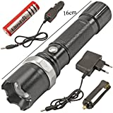 3 Mode CREE Rechargeable LED Waterproof ...