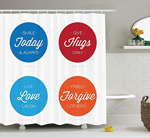 XIAOYI Quotes Decor Collection Of Positive On Badges Encouraging Live Love Laugh Smile