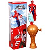 CP Bigbasket Pull Line Flying Spiderman Toy - Multi Color