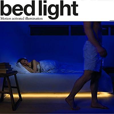 MINGER Bed Light,LED Night Lights Strip for Under Cabinet, Bed, Hallway, Dark Corner Accent Lighting - low-cost UK light shop.