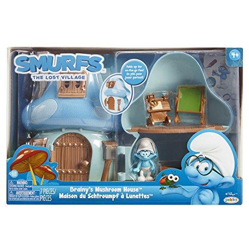 Smurfs Mushroom House jeu avec Brainy