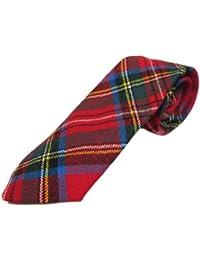 Corbata estilo tartán para niños - 100% lana - Royal Stewart