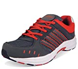 Action Shoes Men's Grey/Red Running shoes -UK/India 7