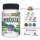 MUÉVETE – Potente Antiinflamatorio con Cúrcuma Microencapsulada + Colágeno + Magnesio + Condroitina + MSM + Vitamina C – Articulaciones y Músculos Sanos, Fuertes y Sin Dolor –50U. de Rápida Absorción