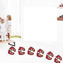 paquete de pares gua linda de huellas etiquetas para la habitacin de