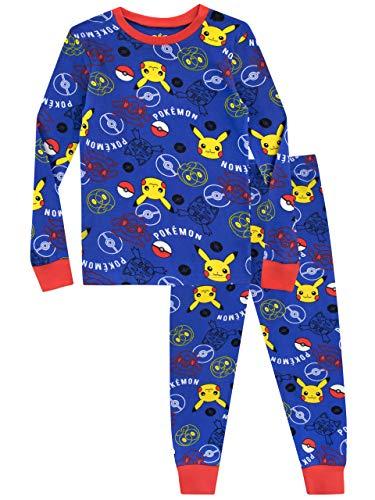 Pokmon-Pijama-para-Nios-Pikachu-Ajuste-Ceido
