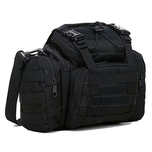 zhjz Multifunktionale Angeln Bag 3Taschen Rucksack Angeln Rucksack (schwarz)