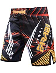MMA Shorts Compitiion Training Cage Fight Kick Boxing Muay Thai Pant, Size Guideline in Pictures Area