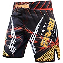 MMA Shorts Compitiion Training Cage Fight Kick Boxing Muay Thai Pant, Size Guideline in Pictures Area (Medium)