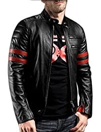 Life Trading Faux Leather Jacket for Men and Boys