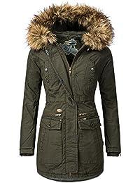khujo Damen Mantel Wintermantel Winterparka Safitha 3 Farben S-XXL