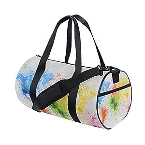 jstel mapa del mundo pintura bolsa de deporte gimnasio para hombres y mujeres bolsa de viaje de viaje