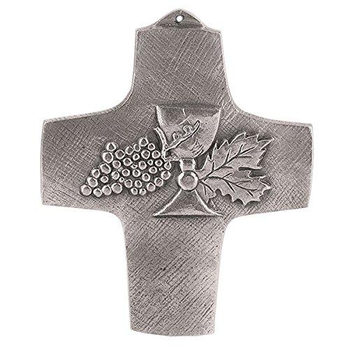 Kreuz aus Neusilber: Meine erste heilige Kommunion