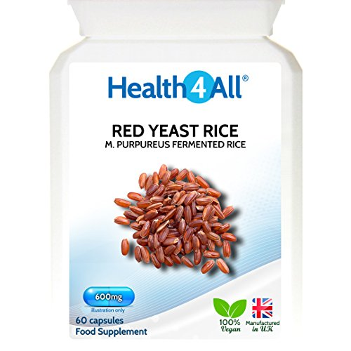 Health4All Red Yeast Rice 600mg 120 Capsules (V) | 100% Vegan | Highest safe dosage 2400 mg/day Test