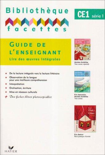 Bibliothèque facettes CE1 série 1 : Guide de l'enseignant