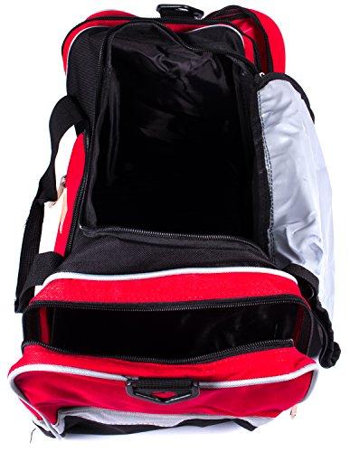 Subke A2040031-2 - Borsa sportiva Unisex adulto, colore: rosso rosso rosso