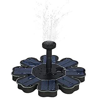 Decdeal Solar Pump Water Fountain,Solar Panel Water Pump Kit for Bird Bath Pond Garden Decoration 8V 1.6W