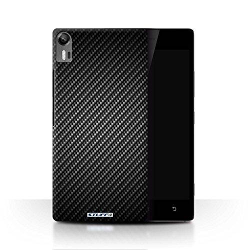 Stuff4® Hülle/Hülle für Lenovo Vibe Shot/Z90 / Grau Muster/Kohlenstoff-Faser-Muster Kollektion