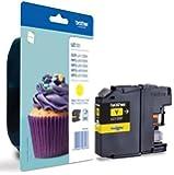 LC123 Yellow Original Printer Ink Cartridge for Brother DCP J4110DW, MFC J4410DW, MFC J4510DW, MFC J4610DW, MFC J4710DW.