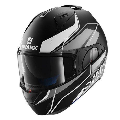 Shark - Casco per moto Evo One Krono KSW, taglia: S, colore: nero/bianco