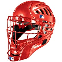 Wilson Silver Series Shock FX 2.0 Baseball Catcher's Helmet (Scarlet/Small-Medium, 6 1/8 - 7 1/8)