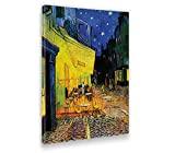 Giallobus - Quadro - Stampa su Tela Canvas - Vincent Van Gogh - Terrace of A Cafe' At Night - 50 X 70 Cm