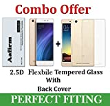 #10: Aafirm Xiaomi Redmi 4a Tempered Glass + Back Cover [4a Combo Pack]