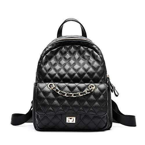 Leder Kleiner Duft Diamant Rucksack Lässige Flut Weibliche Reisetasche Street Fashion Kleiner Rucksack Reisegepäcktasche -