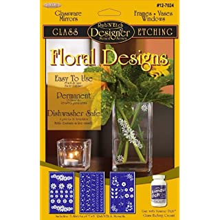 Armour Products Rub 'N' Etch Designer Stencils 5 x 8-inch 3 kg Floral Designs, Pack Of 1