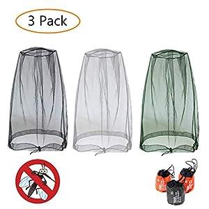 GCOA Moskito Kopfnetz Mesh, Face Mesh Mask Cover für Outdoor Liebhaber Schützen Sie Sich vor Moskito Insekten Bug Bee…
