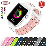 FunBand Armband Sport Strap für Apple Watch, Edition Soft Silikonarmband Wrist Replacement Uhrenarmband Schlaufe Armbänder (38 mm or 42 mm) für Apple Uhr/Watch Series 3,Series 2,Series 1