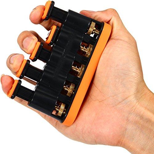 Finger Ginnico Per Mano, Dito e la Forza del Polso Esercizi di Allenamento per Chitarra, Pianoforte, Golf, Tennis & Physical Therapy (Giallo) - Manopole Modellata