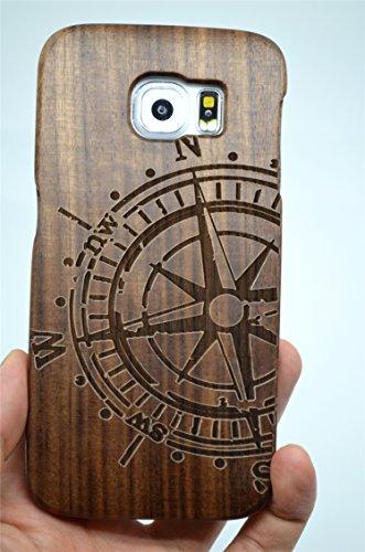 Holzsammlung® Samsung Galaxy S7 Legno Custodia - Bussola in noce - Qualit à Premium Cover in Bambù / Legno Naturale per il tuoSmartphone