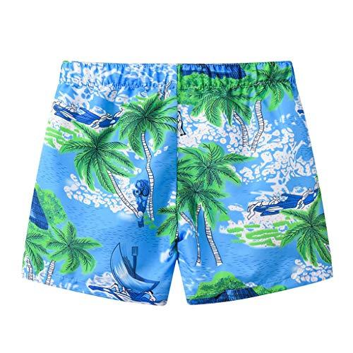 Jungen Surfbrett Swim Trunk (LABIUO Kleinkind Baby Junge Strandhosen,Mode Drucken Bademode Badeanzug Sommer Strandhosen Elastischer Kordelzug Surfshorts(Hellblau,2-3 Jahre))