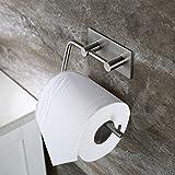 Adhésif Porte Papier Toilette, Distributeur Papier mural WC Salles de Bains En Acier Inox Porte Rouleau Papier, Auto-Adhesif