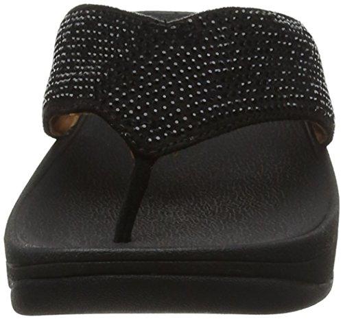 FitFlop Damen Ritzy Toe-Thong Sandals Peeptoe Schwarz (Schwarz)